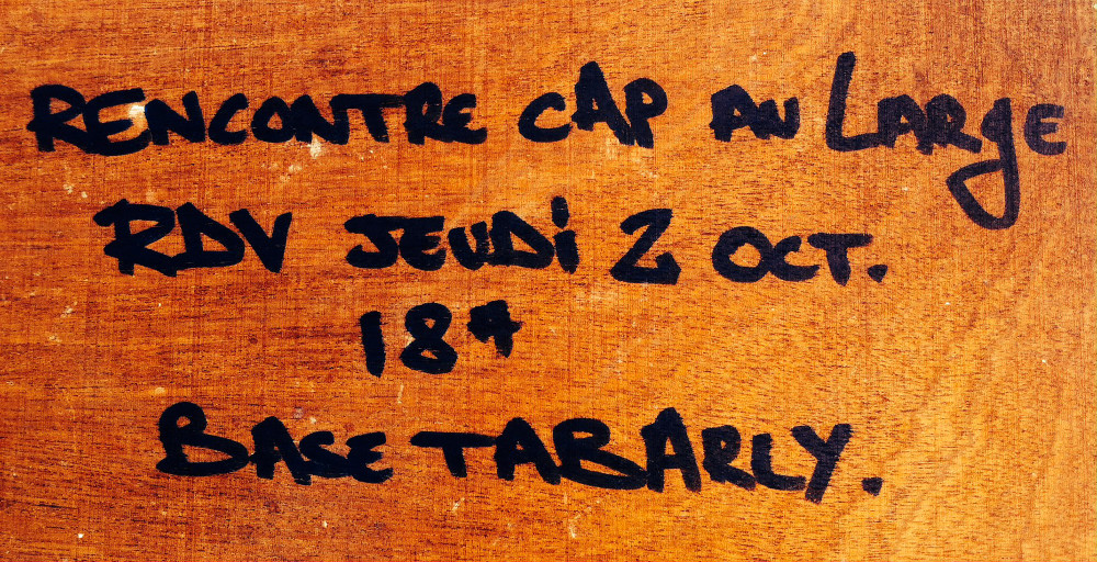Rencontre Cap au large - RDV Jeudi 2 oct. - 18h - Base Tabarly