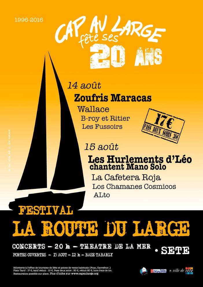 20 ans de Cap au Large - 14 et 15 août 2016 - Route du Large