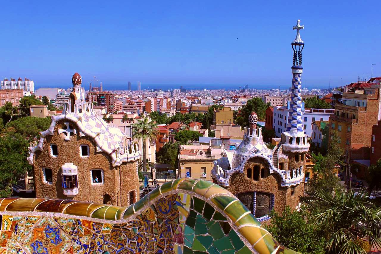 Barcelone vu du parc Guell