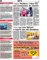1er juillet 2005 – Midi Libre – Annonce du concert