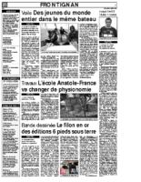 1er juillet 2007 – Midi Libre – Les projets de Cap au Large