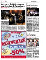 12 août 2012 – Midi Libre – Bilan du concert