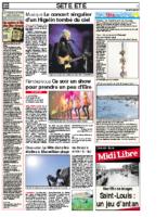 14 août 2010 – Midi Libre – Bilan du concert
