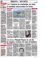 23 juin 2008 – Midi Libre – Défi pour la vie