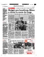 29 avril 2003 – Midi Libre – Portrait de Riton