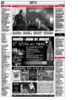 31 juillet 2008 – Midi Libre – Bilan du concert