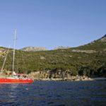 Croisière en Corse Août  A lancre au sud de Calvi