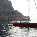 Croisière en Corse Août  A lancre en baie de Porto