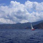 Croisière en Corse Août  Au large de la Corse à Scandola
