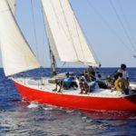 Croisière en Corse Août  Bon plein dans la brise
