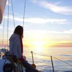 Croisière en Corse Août  Coucher de soleil Entre Cargèse et Porquerolles