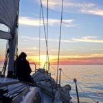 Croisière en Corse Août  Coucher de soleil sur Alibaba