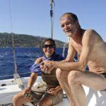 Croisière en Corse Août  En route babard amure