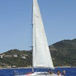 Croisière en Corse Août  Grand voile haute