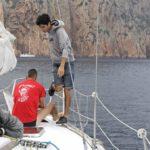 Croisière en Corse Août  Jeter lancre