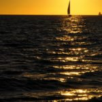 Croisière en Corse Août  Laisse Dire au coucher de soleil au large de la Corse
