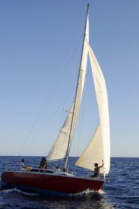 Croisière en Corse Août Tribord amure