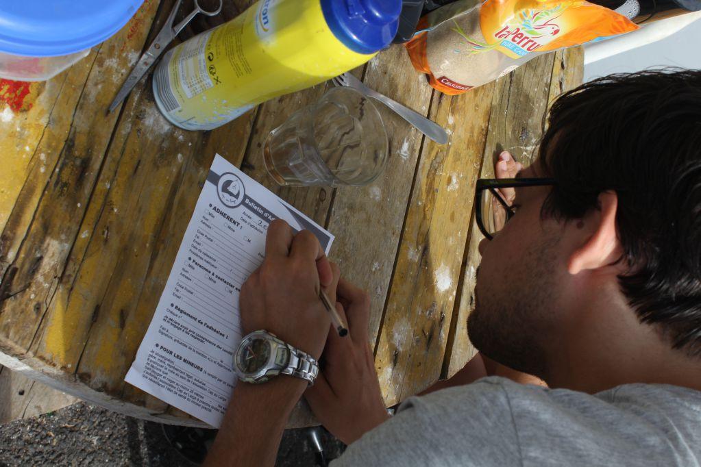 inscription bulletin d'adhésion, cap sur l'écriture jour 1