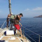 relevage de l'ancre sur Laisse Dire - Corse, Baie de Focolara