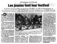 13 avril 2004 – Midi Libre – Festival des jeunes