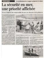 2001 – Midi Libre – Sécurité en mer