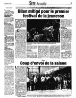 26 avril 2004 – Midi Libre – Premier festival de jeunesse
