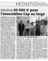26 juin 2006 – Midi Libre – Mécénnat