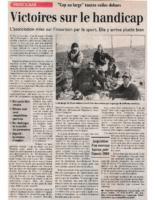29-11-1999 – Midi Libre – Victoires sur le handicap