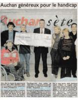 4 novembre 2004 – Midi Libre – Mécénat Auchan