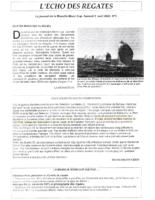 5 avril 2003 – L'echo des Régates – Compétition