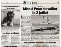 Juin 2005 – Midi Libre – Mise à l'eau de Laisse Dire